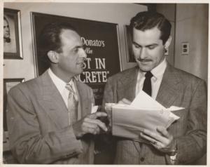 Pietro Di Donato with actor Sam Wanamaker
