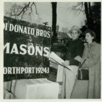 Pietro and Helen with Masons Sign