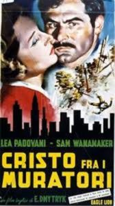 Poster for Italian Edition of Christ in Concrete Film by Edward Dmytryk
