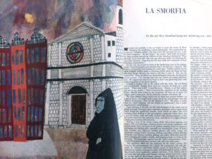Photo of Pages from Esquire magazine, 1955 showing La Smorfia story by Pietro DiDonato